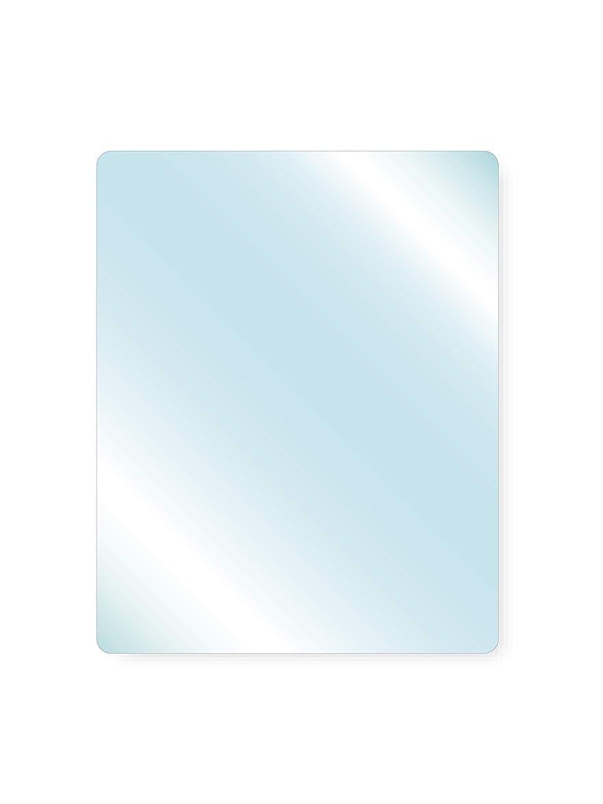 夜明け製造業省略透明ガラス 厚み6mm 100×900mm 四角形 4隅R加工 ミガキ サイズオーダー対応