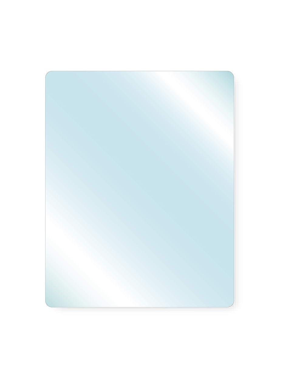 日の出チューブパンダ透明ガラス 厚み6mm 300×600mm 四角形 4隅R加工 ミガキ サイズオーダー対応