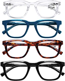 AQWANO Lightweight Computer Reading Glasses Blue Light Blocking Fashion Spring Hinge Comfortable Readers for Stylish Look, 2.0