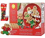 Gingerbread House Kit Addition; Gingerbread Man. Holiday Fun Baking For Kids - Includes: 8 Pre-Baked Cookies, 2 Multi-Colored Candies, Green Fondant, 3 Colors Icing, Decorating Bags & Tip, Bundled With (4) SEWANTA Candy Cup Holders