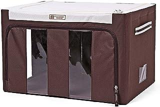 Boîtes de rangement avec couvercle, boîte de rangement repliable avec fenêtres transparentes, panier de rangement en tissu...