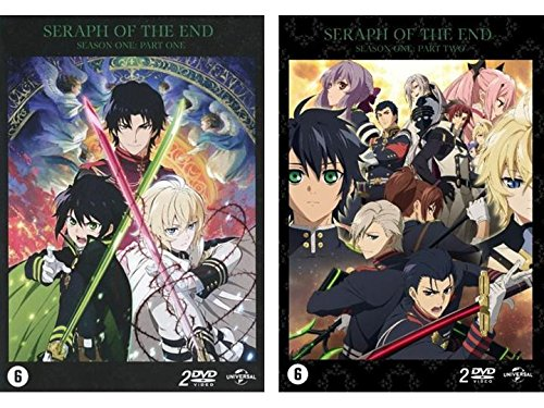 Seraph of the End - Staffel 1 : Vampire Reign + Battle in Nagoya - Vol. 1 + 2 (Ep. 01-24) (4 DVD) (EU Import mit Deutscher Sprache)