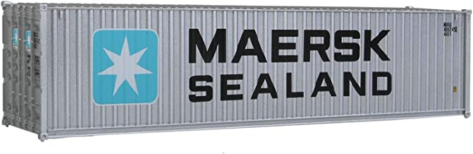 Walthers SceneMaster HO Scale Model of  Maersk Sealand (Silver, Blue, White) 40' Hi Cube Corrugated Side Container