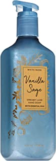 Bath and Body Works VANILLA SAGE Creamy Luxe Hand Soap 8 Fluid Ounce (2019 Limited Edition)
