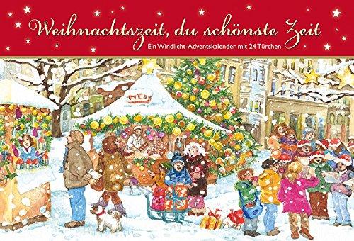Weihnachtszeit, du schönste Zeit. Ein Windlicht-Adventskalender mit 24 Türchen