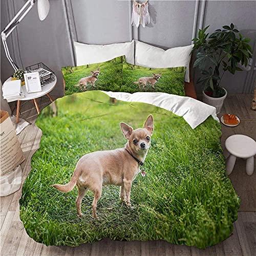 Funda nórdica, Juego de Funda nórdica para Perro Bull Terrier, con Cremallera, Protector de edredón de Dise?o Moderno