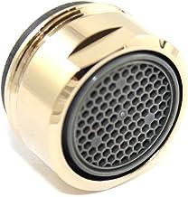 SANTRAS® straalregelaar M24x1 voor elke conventionele kraan met zeefinzet in goud – perlator (buitendraad 22 mm) met filte...