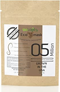 BioLogic All-Natural Pest Control Ecomask - 5 Million Steinernema carpocapsae (Sc) Beneficial Nematodes for Fleas, Armyworms, Cutworms and More - Pet, Plant and Family-Safe - USA Grown, Non-GMO