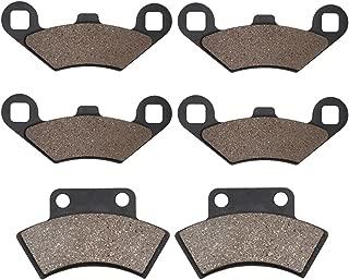 Cyleto Front and Rear Brake Pads for POLARIS 500 Big Boss 6 x 6 1998 1999 Scrambler Sportsman Xplorer 500 4x4 1996 1997 1998 1999