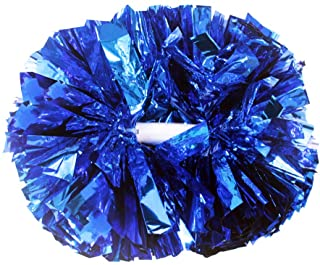 Hooshing 2 Pack Cheerleading Pom Poms with Baton Handle for Team Spirit Sports Dance Cheering