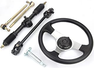Niome 110cc Go Kart 300mm Steering Wheel 320mm Assembly Full Steel Gear Rack Pinion
