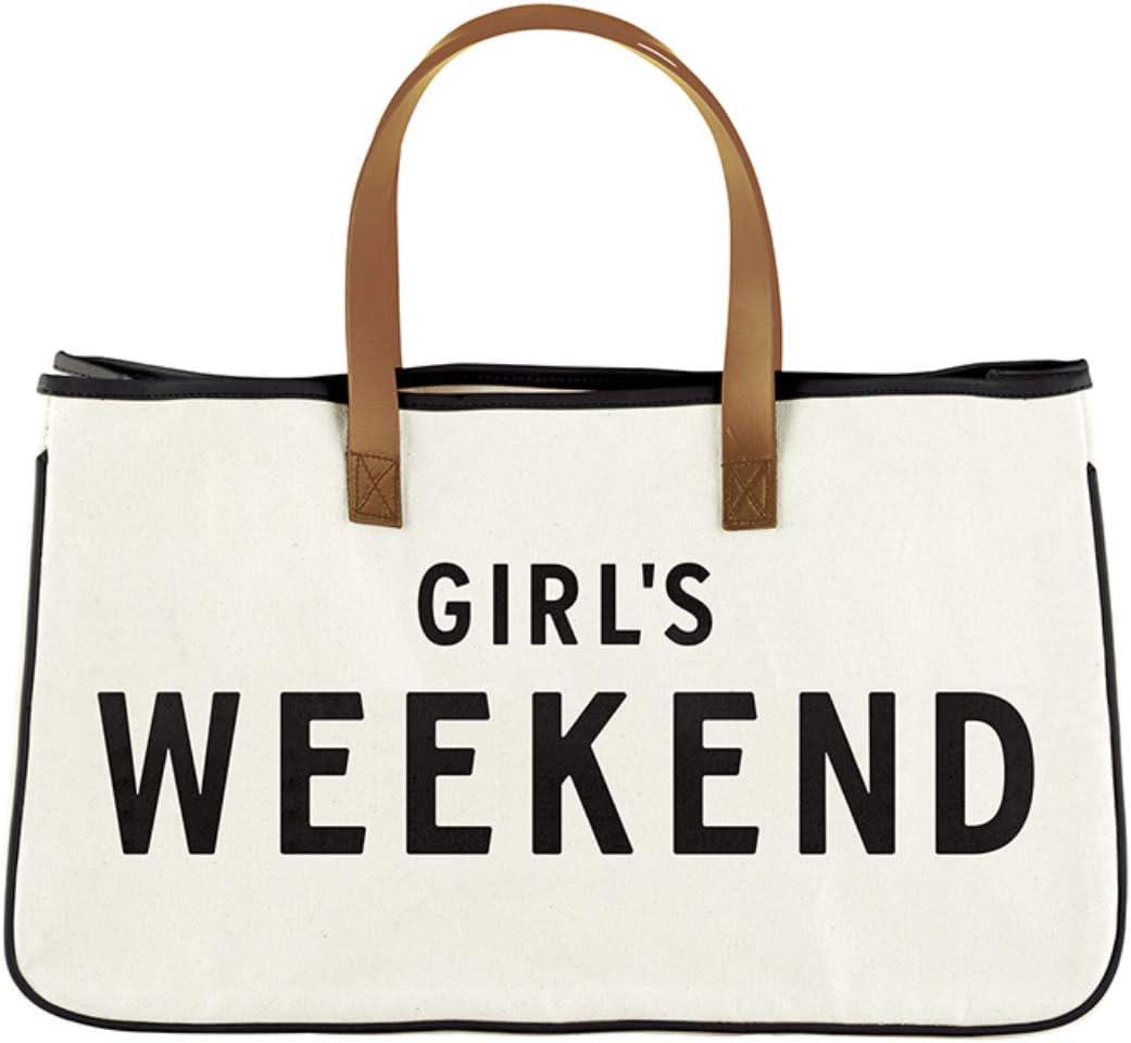 Amour Santa Barbara Designs Cotton Canvas Fabric Getaway Tote Handbag 20 x 11 Black and White