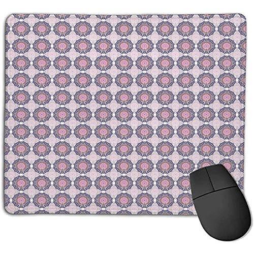 Aziatische mandala geïnspireerd patroon oosterse Oosterse beschadiging, inspiratie, hartvormpjes, roze violet blauw