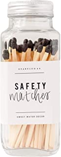 Sweet Water Decor Safety Matches - 60 Strike On Bottle Matches Vintage Matches Home Decor Candle Accessory | Black