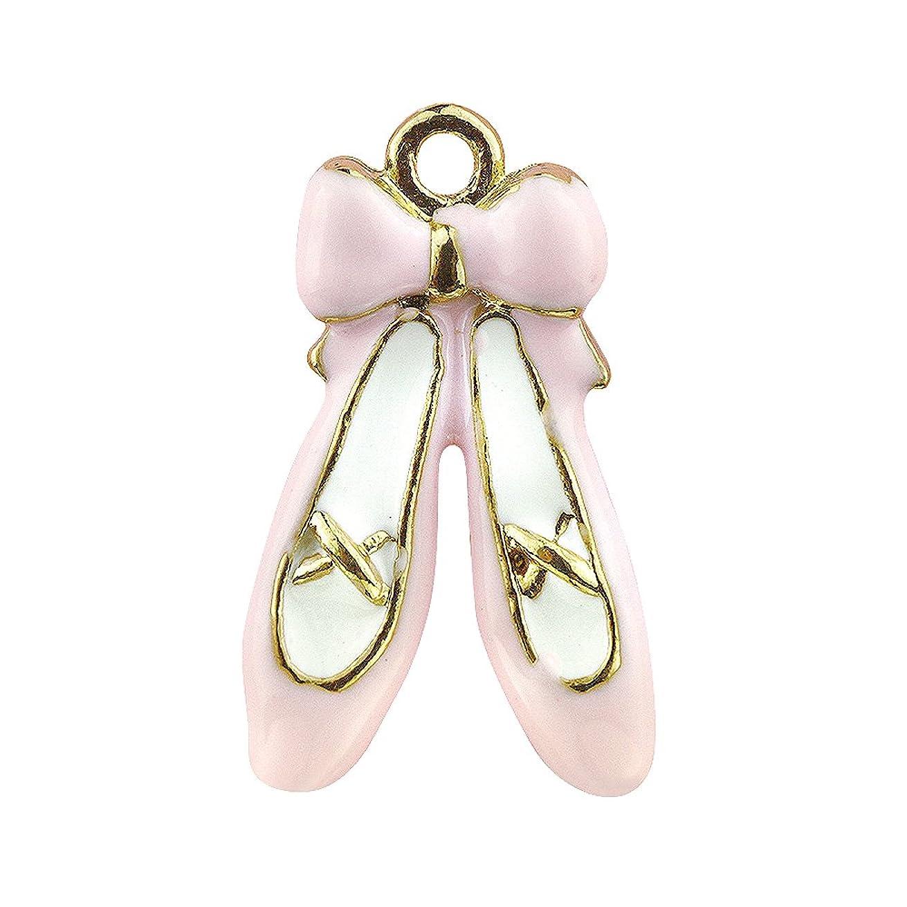 Creative DIY Pink Ballet Shoe Charms Pendants Wholesale (Set of 3) MH238