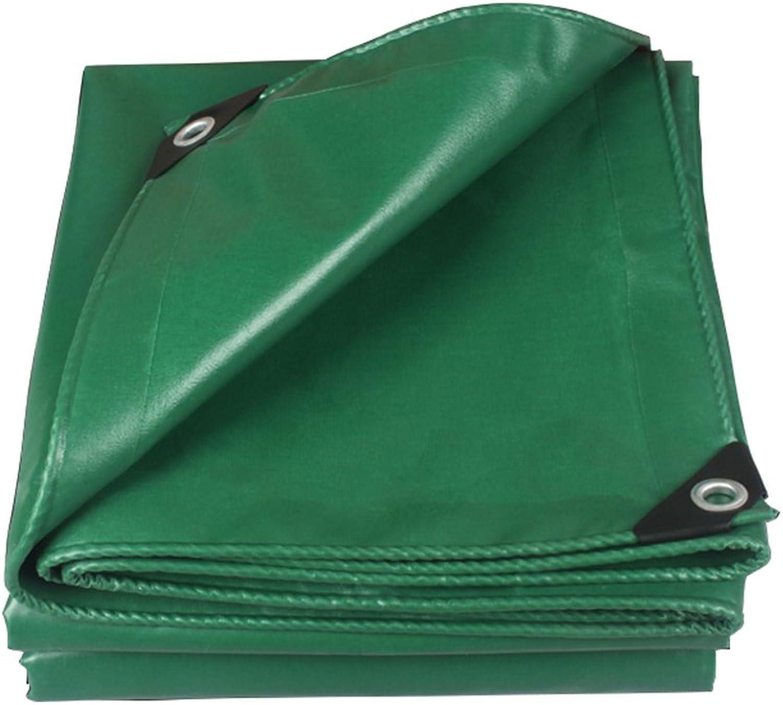 650g Thick Waterproof Cloth Sunscreen Tarpaulin 0.55mm Green car Tarpaulin PVC Plastic Cloth Oxford Outdoor Shade Cloth (color   Green, Size   22m)