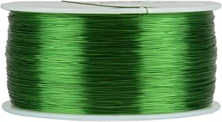 TEMCo 30 AWG Copper Magnet Wire - 1 lb 3132 ft 155°C Magnetic Coil Green