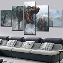 Canvas painting Home Decoration Wall Art 5 Pieces Game Jurassic World Evolution Modern Painting High Quality Canvas Printing Movie Poster Decoration Frame-20CMx35/45/55CM