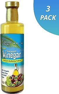 Coconut Secret Raw Coconut Vinegar (3 Pack) - 12.7 fl oz - Rich in Vitamins & Amino Acids - Organic, Vegan, Non-GMO, Gluten-Free, Kosher - Keto, Paleo, Whole 30 - 72 Total Servings