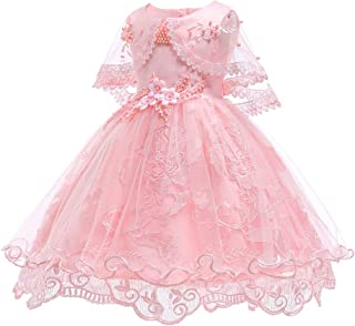 SOVIKER Girls Princess Gowns Embroidery Tulle Lace Flower Dress Party Formal Wedding Evening Dress