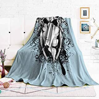 hengshu Fuzzy Blankets King Size Soft Throw Blankets for Adults W70 x L70 Inch