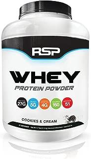RSPニュートリション ホエイプロテインパウダーとBCAAsために筋肉とポストワークアウトチ5ポンド (2.09kg) [クッキーとクリーム味]【海外直送品】