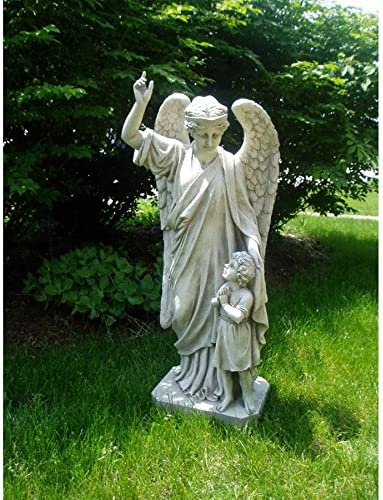 Rapid rise Design Toscano EU33861 Guardian Angel Stat Prayer Outlet sale feature Garden Child's