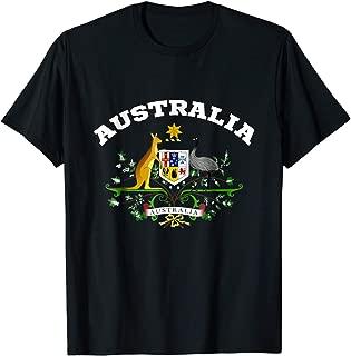 TIANLAGNHB Australia T-Shirt Coat of arm Tee Flag Souvenir Aussie