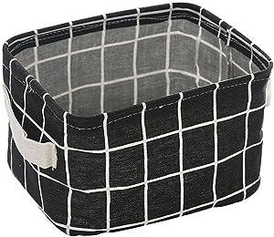hunpta Aufbewahrungskorb, faltbar Lagerplatz Closet Spielzeug Box Container Organizer Stoff Korb schwarz