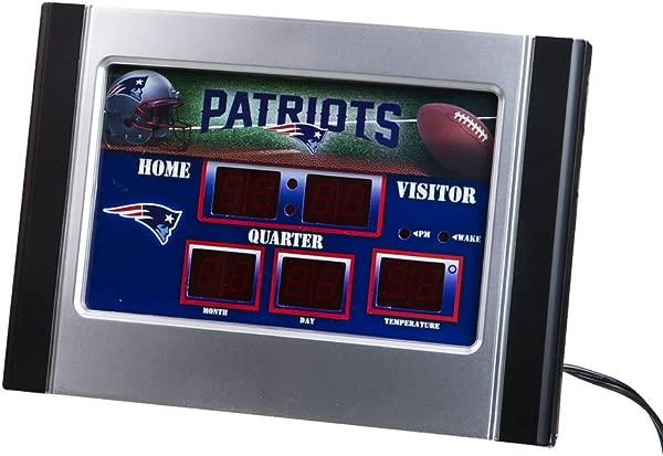 6 5x9 Scoreboard Desk Clock Comm New England Patriots