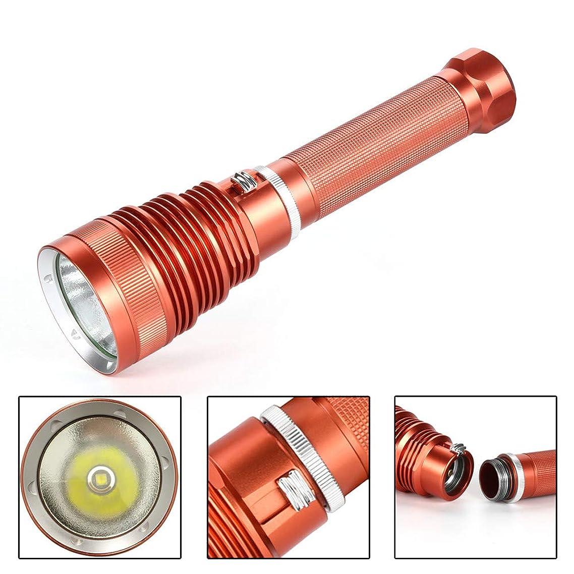 Rose Gold, Ikevan Diving Flashlight L2 Underwater Torch Brightness Waterproof 100m Light Torch