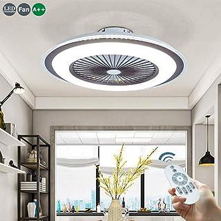 LED 80W Del Ventilador De Techo Ajustable Con Control Iluminación Silencioso Luz De Techo Remota Lámpara De Techo Plafón Moderno Velocidad Del Viento Regulable Salón De Los Niños Dormitorio Sala