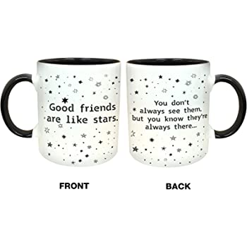 Quotable Good Friends Are Like Stars Old Saying Mug 14oz B001JPF2YY