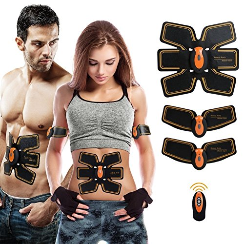 Abdominal Toning Belt,EMS Muscle Stimulator Abs Trainer Fitness Slimming Body Sculptor Muscle Trainer Butterfly Ab Belt Gym Pad Abdominal Muscle Exerciser Belts Fat Burner