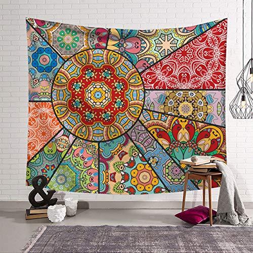 Mandala Naadloze Kleurrijke Vierkante Tapijt Muur Opknoping Boheemse Tapijt Spreien Voor Kind Volwassen Tafelkleed Slaapkamer Living Home Deco, 8.200 Cm x 150 Cm