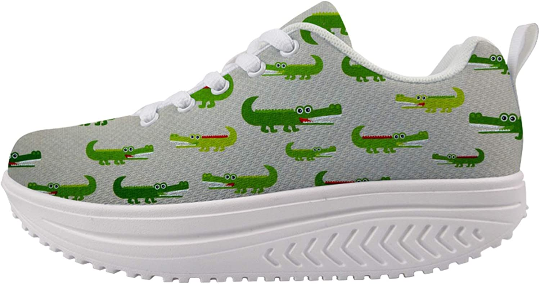 Owaheson American Alligator Crocodile Walking Women's Max 47% OFF Fees free!! Shoes Arch