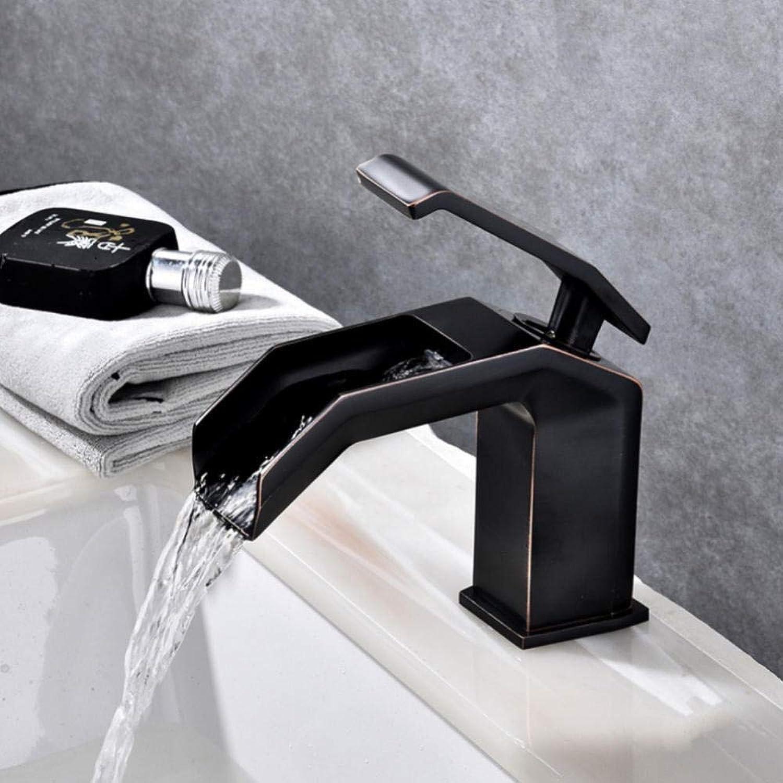 Hiwenr Becken Wasserhahn Schwarz Wasserfall Bad Wasserhahn Kalt Und Warm Einhand Bad Wasserhahn Mischer Wasserhahn