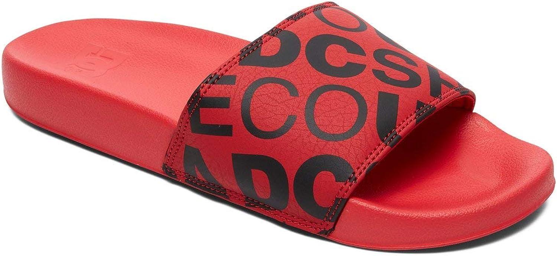 DC schuhe Herren Dc Slide Slide Se, rot schwarz  Viel Spaß beim Einkaufen