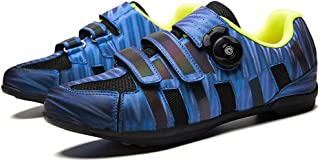 OneChange Road Cycling Shoes, Mens Lightweight Breathable Anti-Skid Flat MTB Bike Shoes without Cleats for Sports Mountain Riding Bicycle (Color : Blue, Size : 7 UK)