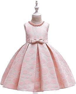 Vestido de princesa de las niñas Vestido del funcionamiento del vestido de las muchachas de la princesa de cuello redondo ...