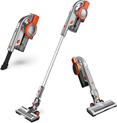 SweetLF Cordless Vacuum Cleaner 2 in 1 Lightweight Stick Handheld Vacuum 10KPa Powerful Suction for Home Hardwood Floor Carpet Car Pet Cleaning