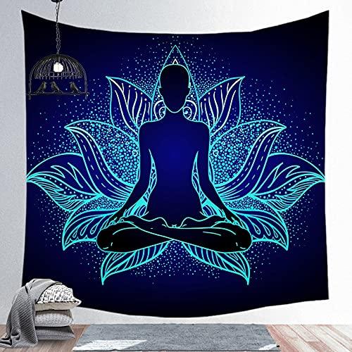 KHKJ indischer Mandala-Wandteppich, Yoga Steppdecke,...