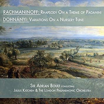 Rachmaninoff: Rhapsody on a Theme of Paganini & Dohnányi: Variations on a Nursery Tune