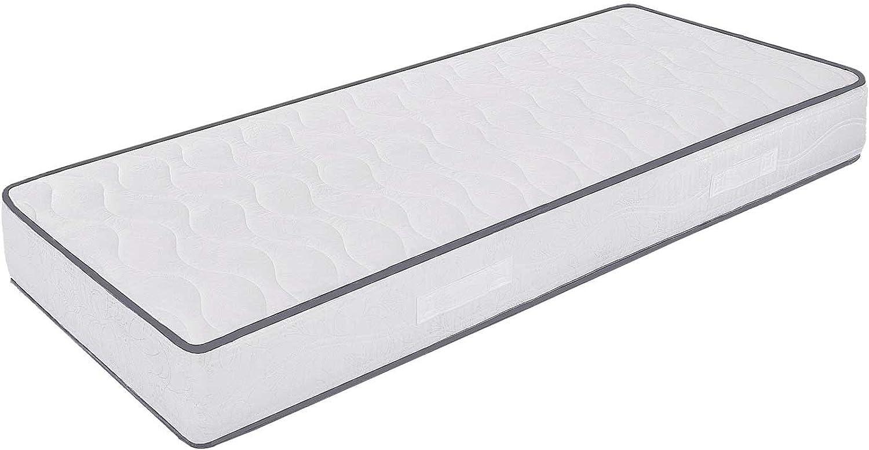 MiaSuite Waterfoam-Matratze, Hhe 20 cm, orthopdischer Bezug aus Baumwolle, Modell  Frühling 85 x 190 cm Bianco