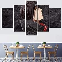 Unbekannt Bilder 5-teilig Leinwandbilder Leinwand HD Drucke Wohnkultur Naruto Animation Wandkunst Bilder Cartoon Moderne Spray Malerei Poster Rahmenlos FFFCJYQ