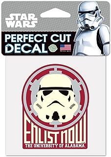 WinCraft NCAA University of Alabama 15529215 Perfect Cut Color Decal, 4 x 4, Black