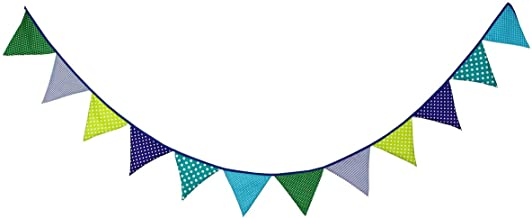 10.5 Feet Triangle Flag Banner Bunting Pennant for Kids Teepee Tent,Party and Room Decoration,12 Pcs Double Sided Cotton Fabric Flag by Steegic (Multicolor)