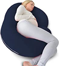 Angel Mommy Full Body Pregnancy Pillow - C Shaped Pillow/Body Pillow/Lumbar Pillow/Maternity Pillow with 100% Cotton Zippe...