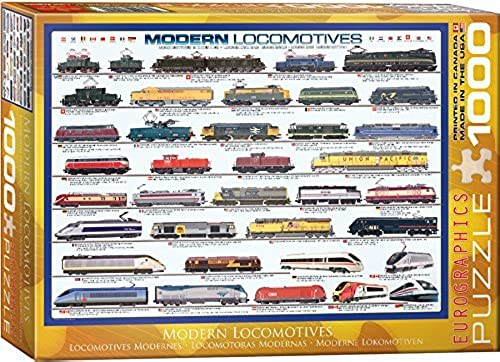 EuroGraphics Modern Locomotives 1000 Piece Puzzle by EuroGraphics