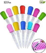 BELLARMOR 5ml Liquid Dropper FDA Approve Medicine Silicone Clear Plastic Eye Dropper No BPA Silicone and Plastic Pipettes For Kids,12 Pack